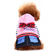 Cute Italy Style Stripes Bowknot Pattern Four-legged Pants for Pets Dogs (Assorted Colors, Sizes)