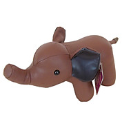Visual Brown PU Leather Plush Elephant Puppet Gift