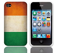 Vintage The Irish Flag Design Hard Case with 3-Pack Screen Protectors for iPhone 4/4S