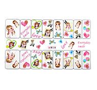 YeManNvYou®5PCS Water Transfer Printing Barbie Doll Nail Art Stickers Cartoon W Sery No.114