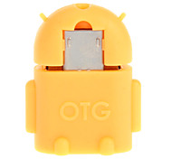 Micro USB 2.0 a USB 2.0 M / F OTG Adaptador de Orange
