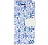 Vintage flower Pattern PU Full Body Case For iPhone 5/5S
