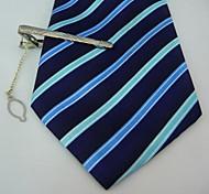 Gift Men's Silver Metal Engraved Tie Clip