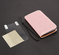 Piel del caballo bolsas de cuero de la PU + Protector de pantalla Stylus Pen + HD + cargador de coche para Samsung Galaxy S3 I9300