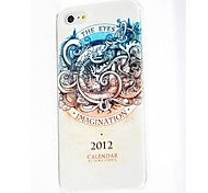 Calendar Pattern Polycarbonate  Hard Case for iPhone 4/4S