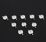 3W 210LM 440-450nm Bleu clair Chip LED (3,2 3.6V, 10 pcs)
