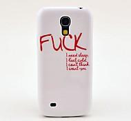 Fick Letters Fest Rückseite Fall für Samsung Galaxy S4 Mini I9190