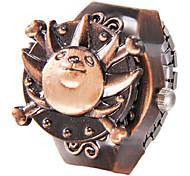 Unisex Lion Pattern Dial Legierungs-Quarz-Analog-Ring-Uhr
