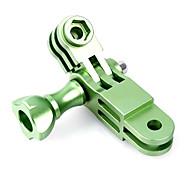 CNC Aluminum Green GoPro Mount Three-way Pivot Arm Set