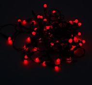 Los 5M 3W Rojo 50-LED Luz de tira del LED (220)