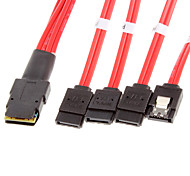 8087 to 4 SATA M/M Cable Red(0.5M)