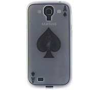 Poker Characteristic ACE Pattern Transparent Soft Back Case Cover for Samsung Galaxy S4 I9500