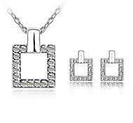 Luxueux ensemble de bijoux en cristal (y compris le collier et boucles d'oreilles)