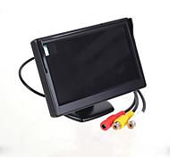 """5.0 """"exhibición de pantalla de LED del coche de visión trasera de soporte del monitor de seguridad - Negro (480 x 234 píxeles)"""