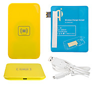 Yellow Wireless Power Charger Pad + USB Cable + Receiver Paster(Blue) for Samsung Galaxy S3 I9300