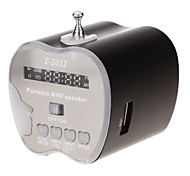 T-2012 Mini Speaker Suporte TF / USB (Preto)