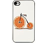 Orange Bicycle Pattern Aluminous Hard Case for iPhone 4/4S