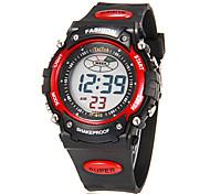 Multi-Funcional Rodada Digital Rubber Band LCD Masculina Correr Desporto relógio de pulso (cores sortidas)