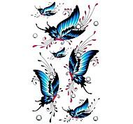 5 Stück Schmetterling wasserdicht Temporary Tattoo (10,5 cm * 20,5 cm) HM410