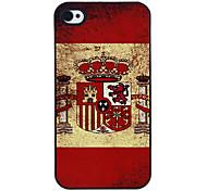 Bandera de España Patrón Hard Case aluminoso para el iPhone 4/4S