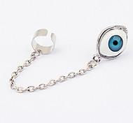 Fashion Eye Slivery Long Alloy Drop Earring(1 Pair)