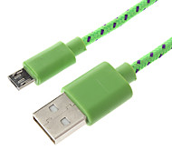1M Braided Wire USB Sync Data Charger Cable for Samsung Cell Phones