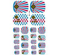 22PCS lovely Diamond Ray Cartoon Nail Art Sticker XJ Sery No.10
