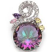 moda argento 925 ciondoli arcobaleno rame placcato zircone