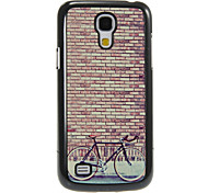Reminiscence Bicycle Pattern Aluminum&Plastic Hard Back Case Cover for Samsung Galaxy S4 Mini I9190