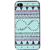 Estilo étnico Birds Pattern PC caso duro para el iPhone 4/4S
