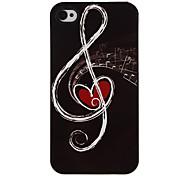 Notas Patrón Hard Case aluminoso para el iPhone 4/4S