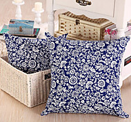 Novelty Classical Blue Pillow With Insert