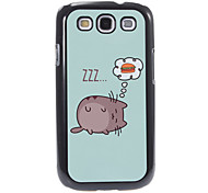 Dreaming Cat Pattern Aluminum&Plastic Hard Back Case Cover for Samsung Galaxy S3 I9300