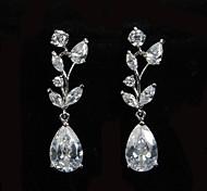 Glamorous Platinum Plated With Zircon Women's Drop Earrings