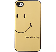 Yellow Smile Pattern Aluminous Hard Case for iPhone 4/4S