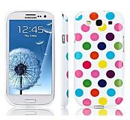 Pointille le cas de dos de silicium ronde pour Samsung S3 I9300 (couleurs assorties)