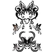 5 Stück Schmetterling wasserdicht Temporary Tattoo (10,5 cm * 20,5 cm) HM351