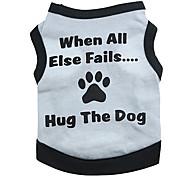 Perros Camiseta Gris Verano Letra y Número
