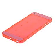 Rote Hartplastik zurück Batteriegehäuse mit rosa Glas für iPhone 5s