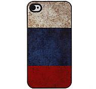 Bandera de Rusia Patrón Hard Case aluminoso para el iPhone 4/4S