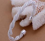 Fashion 20.5cm Women's Silver Alloy Cuff Bracelet(1 Pc)