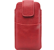 PU LEATHER POUCH CASE with External Slot for iPhone 4S/5/5C (Assorted Colors)