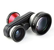 4 in 1 Photo Lens Double Fish Eye Macro 5X Super Telephoto Lens for iPhone 5/5S