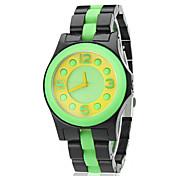 Women's Candy Color Plastic Band Quartz Wrist Watch (Assorted Colors)