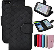 Angibabe Grid Pattern Leather case with Card Slot for iPhone5C