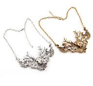 Vintage (Deer Pendant) Gold Alloy Torque(Gold,Silver)(1 Pc)