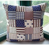 clássico americano teste padrão da bandeira almofadas decorativas com inserção