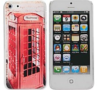 Telephone Booth Painting Pattern Hard PC Case for IPhone5C