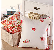 "16"" Square Floral Pillow With Insert"
