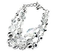 Fashion Glass Beads, Rhinestone Ball Bracelet